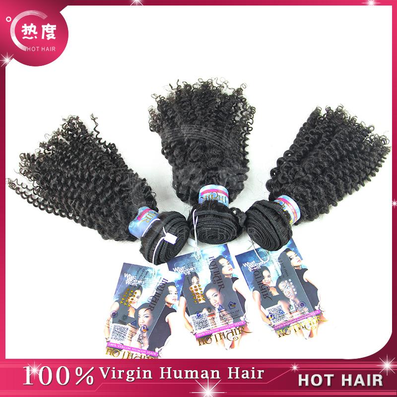 2015 New Fashion 100% mongolian Virgin Human Hair Extension Mongolian kinky curly virgin hair Weaves 3Pcs lot Grade 6A  hair