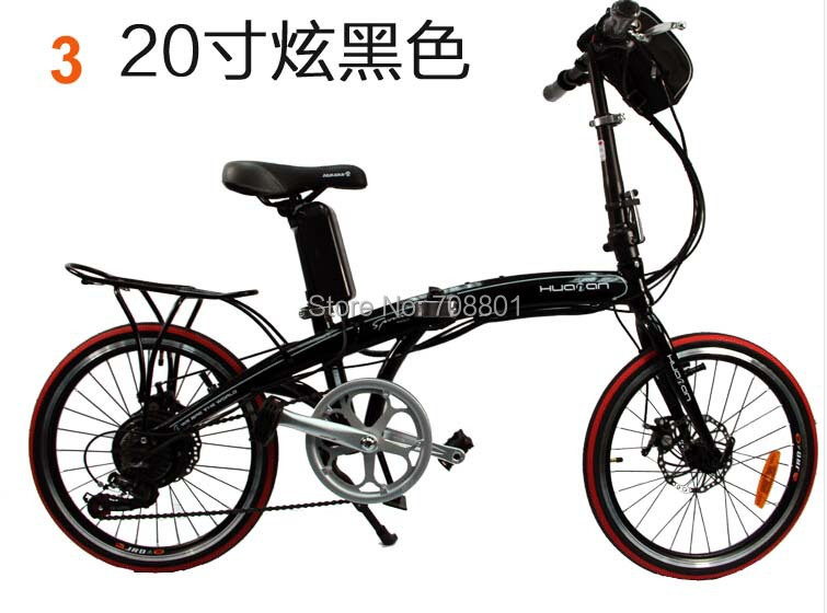 Mini 20 inch 36V 10A lithium battery carbon steel frame Disc brakes fold electric bicycle