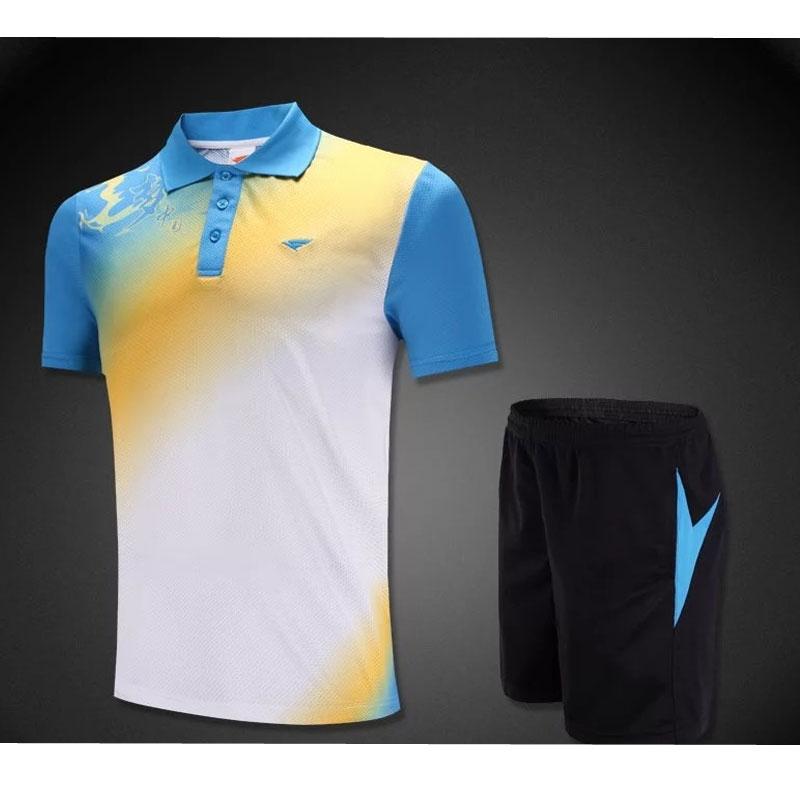 2016/17 new arrival high quality badminton shirt table tennis shirt men sportwear badminton clothes short sleeve uniforms kits(China (Mainland))
