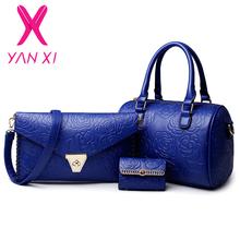 3 шт в 1 комплект сумки  от YAN XI Fashion Bags Flagship Store для женщины, материал ПУ и натуральная кожа артикул 32437468394