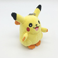1pcs 8cm Cartoon Pikachu Keychain Kids Kawaii Pikachu Plush Toys Pendant Doll with Key Ring Baby