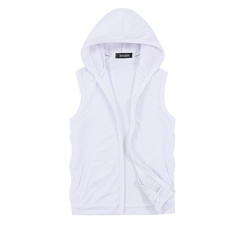 HOT 2015 autumn Fashion Brand Men Vest Sports Men Coat With Velvet Casual Waistcoat Sleeveless Jacket Men Hoodie Vest(China (Mainland))