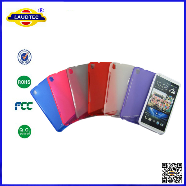100pcs/lot High Quality Transparent Soft S Line TPU Gel Case Crystal Back cover for HTC Desire 800/816 Laudtec(China (Mainland))