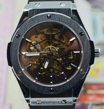 Ganador negro matriz de corte masculinas comercial reloj mecánico completamente automático para hombre reloj del regalo del reloj j297