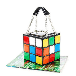 Women's Shoulder Bag Colorful Magic Rubik's Cube Bag PU Handbag High Quality(China (Mainland))