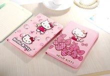 New High Quality Luxury Cover For Apple iPad mini4 hello Kitty Stand Leather Case for ipad mini 4 Shell(China (Mainland))