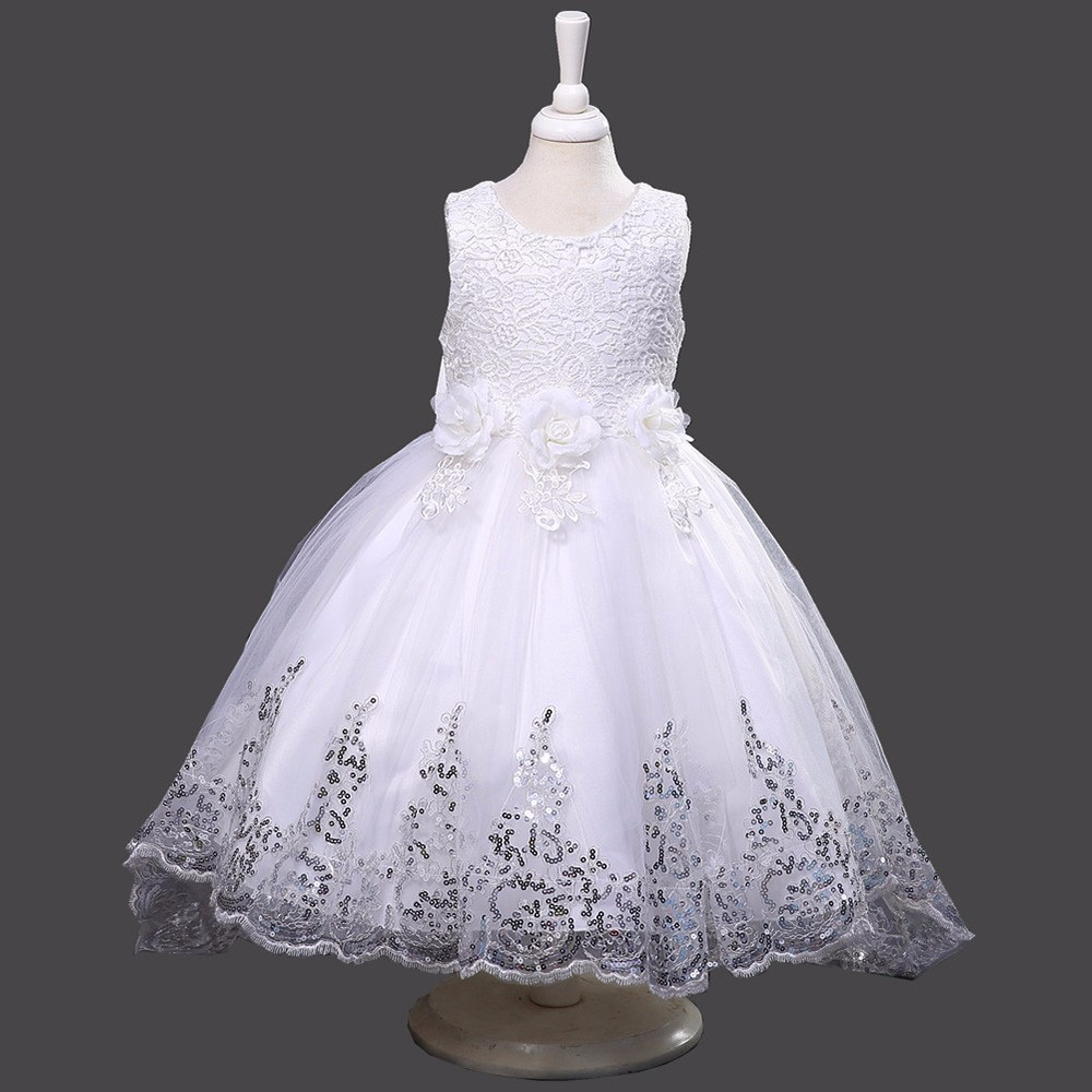 3-14 years girls dresses sleeveless kids dresses for girls ball gown Princess wedding party dress girls summer party clothes