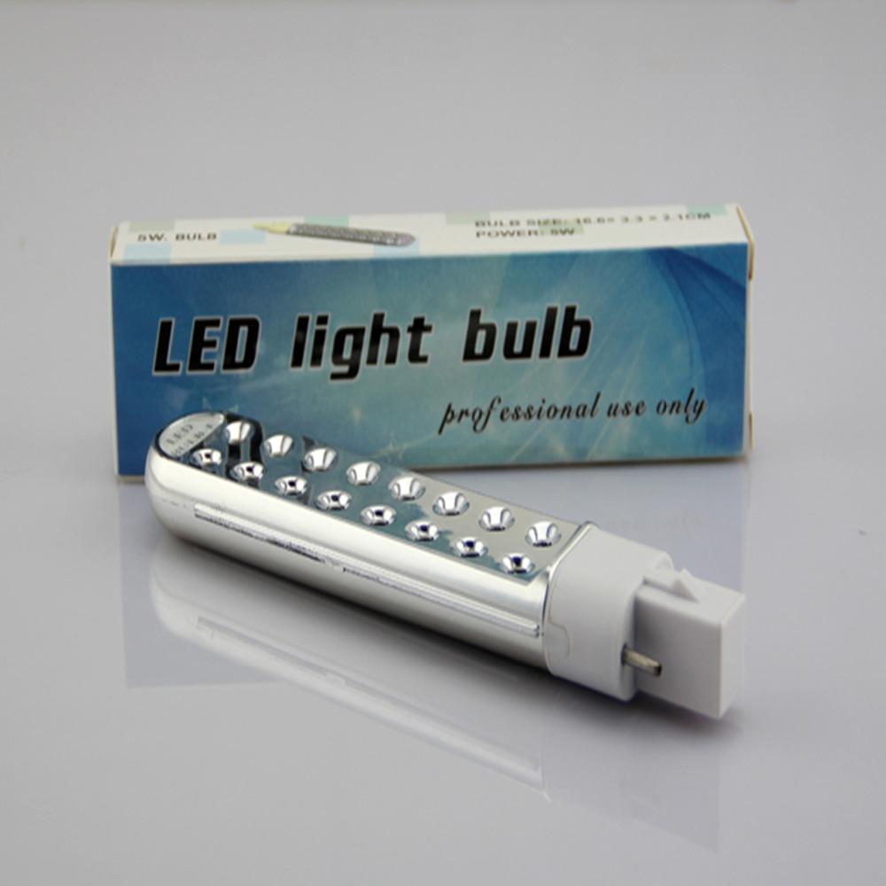 LKE 5W LED UV Lamp Tube Bulb UV Light Used for Nail Art Polish Curing Dryer for led nail manicure nail beauty machine(China (Mainland))