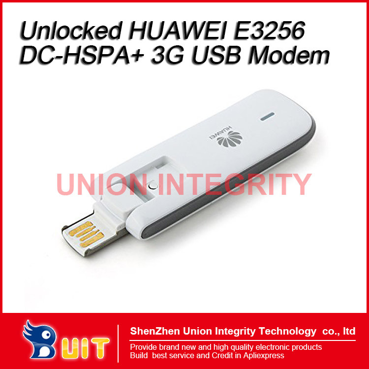 Unlocked HUAWEI E3256s E3256 43.2Mbps DC-HSPA+ 3G USB Modem 3G UMTS Modem Support Digital Memory Card/USB Rotator/Plug and play(China (Mainland))