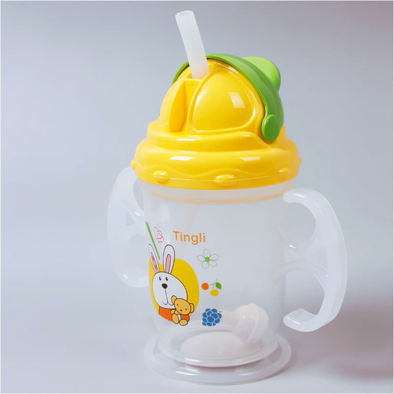 Durable Baby Kids  Straw Cup Drinking Bottle Sippy Cups With handles Cute Design #60454(China (Mainland))