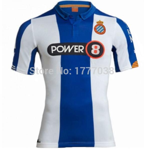 Hot RCD Espanyo 2015 spaniards Camiseta Futbo Camisetas15 16 unified RCD movement of Spanish football jersey football shirt(China (Mainland))