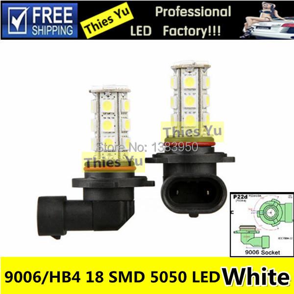 Auto Bulb HB4 9006 P22D LED Car 18 SMD 5050 Fog Light 12V White Fog Lamp Daytime Running Light Replacement(China (Mainland))
