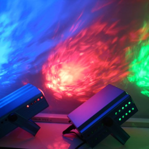 Купить AOBO Освещения ИК-Пульт Дистанционного 3 Вт RGB LED Волна Воды Волновой Эффект Свет этапа освещение Лазерный Проектор с Мини-Штатив для Партии Шоу