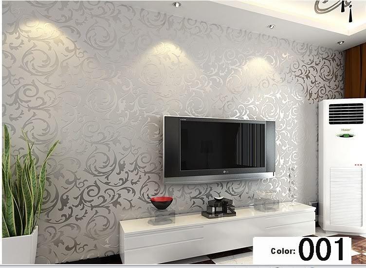 Buy modern 3d background vinyl wallpaper for Gold wallpaper living room