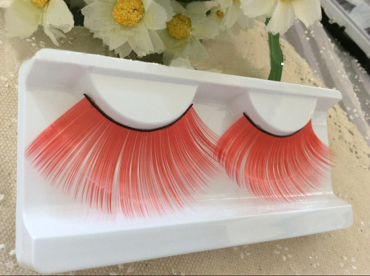 Super long red color false eyelash, Stage drama musical makeup tool - jessie king's store