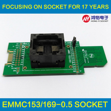 eMMC test Socket to SD interface for nand flash testing BGA169 BGA153 Reader Pitch 0.5mm Size 11.5x13mm For Reading Writing Data(China (Mainland))