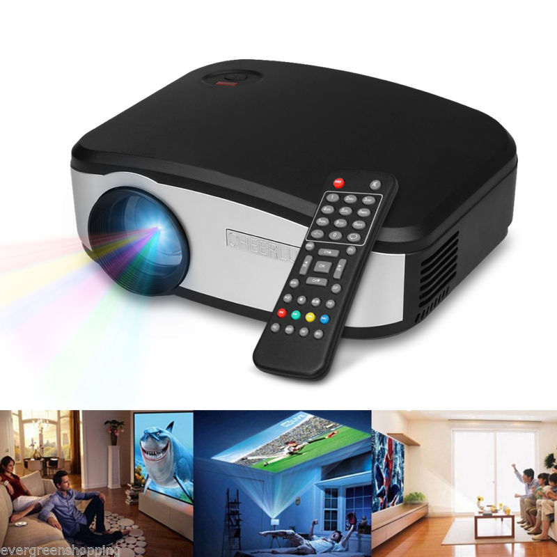 Home cinema theater led lcd projector 1080p pc av analog for Usb projector reviews