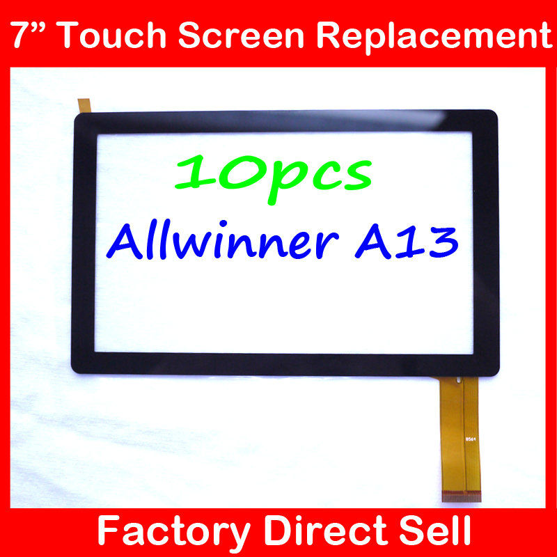 """10PCS 7"""" 7Inch Capacitive Touch Screen PANEL Digitizer Glass Replacement for Allwinner A13 Q88 Q8 pad A13(China (Mainland))"""