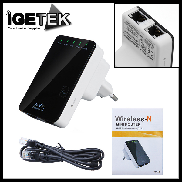 Wireless-N Wifi Router AP Repeater Booster Amplifier LAN Client Bridge IEEE 802.11 b/g/n 300Mbps EU Plug Wi fi Roteador(China (Mainland))