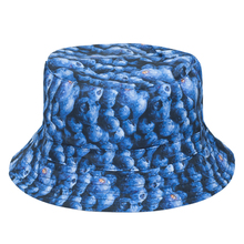 2016 Summer Harajuku Flat Bucket Hats 3D printed Dot Bluebeerry Outdoor Beach Hat Fishing Hip Hop tartan Aztec Cops Women Girls