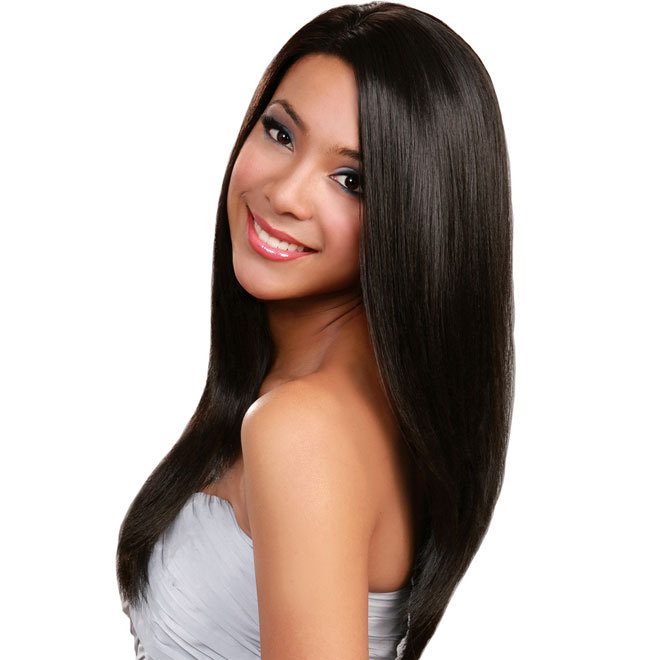 Long straight hairstyles black women