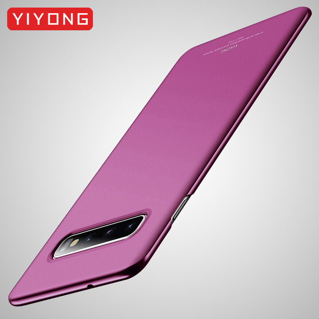 S10 Plus Case YIYONG Matte Coque For Samsung Galaxy S10 Plus S9 Case S10 Lite Hard PC Cover For Samsung S10 E S9 Plus Phone Case