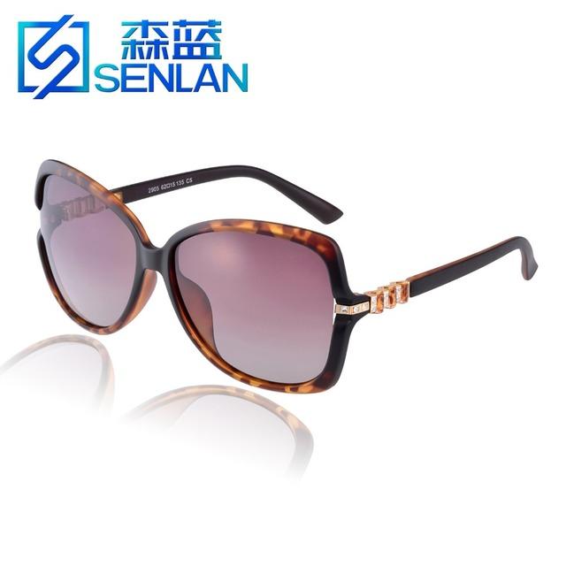 Модной ретро старинные поляризованных солнцезащитных очков защита UV400 женский класса люкс с бриллиантом солнцезащитные очки солнцезащитные очки 2905