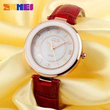 New Women Watches Fashion Slim Rhinestone Design Waterproof Color Shell pearl Leather Ladies Quartz Watch Student Wristwatch