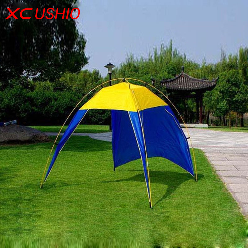 Outdoor Roof Tent Camping Sun Shelter Shade Beach Tent for Summer Holiday Fishing Swimming Boat 3-4 Persons Autumn BBQ(China (Mainland))