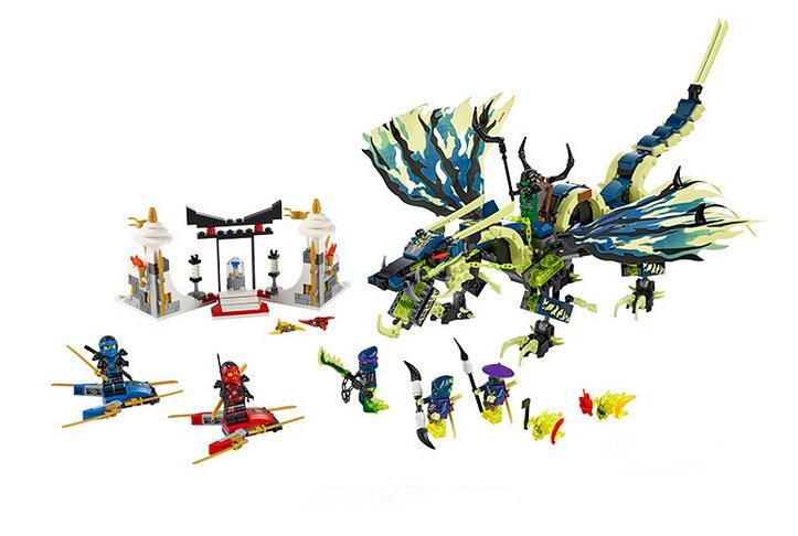 Bela 10400 Ninja Attack Morro Dragon Building Blocks Set Minifigures Kids Toys Compatible legoe