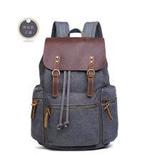 Для мужчин рюкзак большой Ёмкость рюкзак для мальчиков рюкзак ноутбук back pack холст черный Для мужчин рюкзаки школьные сумки хаки/ черный/сер...(China)