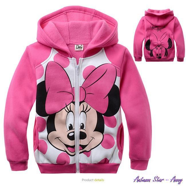 2015 girls minnie sweatshirts kids boy hoodie sweater spring autumn long sleeve(China (Mainland))
