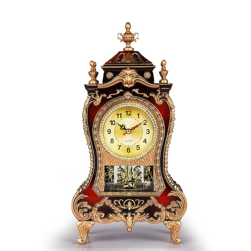 Vintage clock large sitting room TV cabinet desk furnishing articles contracted creative sit mute pendulum clock bell bedroom(China (Mainland))