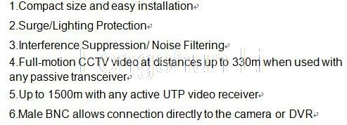 20Pcs/10pairs HOT sale CCTV UTP balun Twisted pair video balun