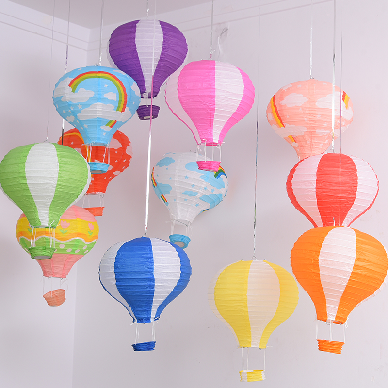 """10Pcs 12""""(30cm) Paper Chinese wishing lantern hot air balloon Fire Sky lantern for Birthday party Wedding Party baby room decor(China (Mainland))"""