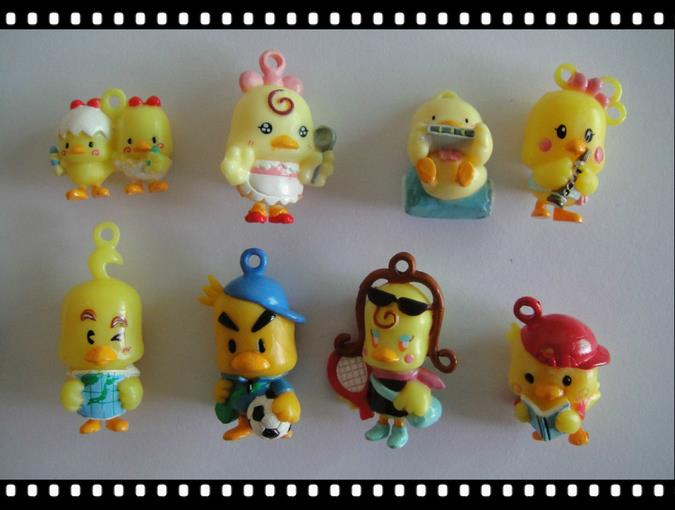 50pcs/lot little yellow chicken dolls 2-3.5cm, lovely animal toys for kids,cartoon game toys ,birthday gift for children(China (Mainland))