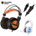 Sades A6 USB 7 1 Surround Sound USB Stereo Gaming Headphones Over Ear Noise Isolating Breathing