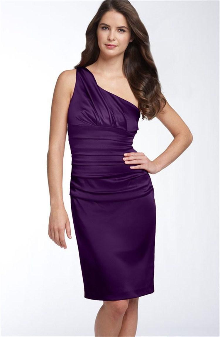one shoulder purple bridesmaid dresses wwwimgkidcom