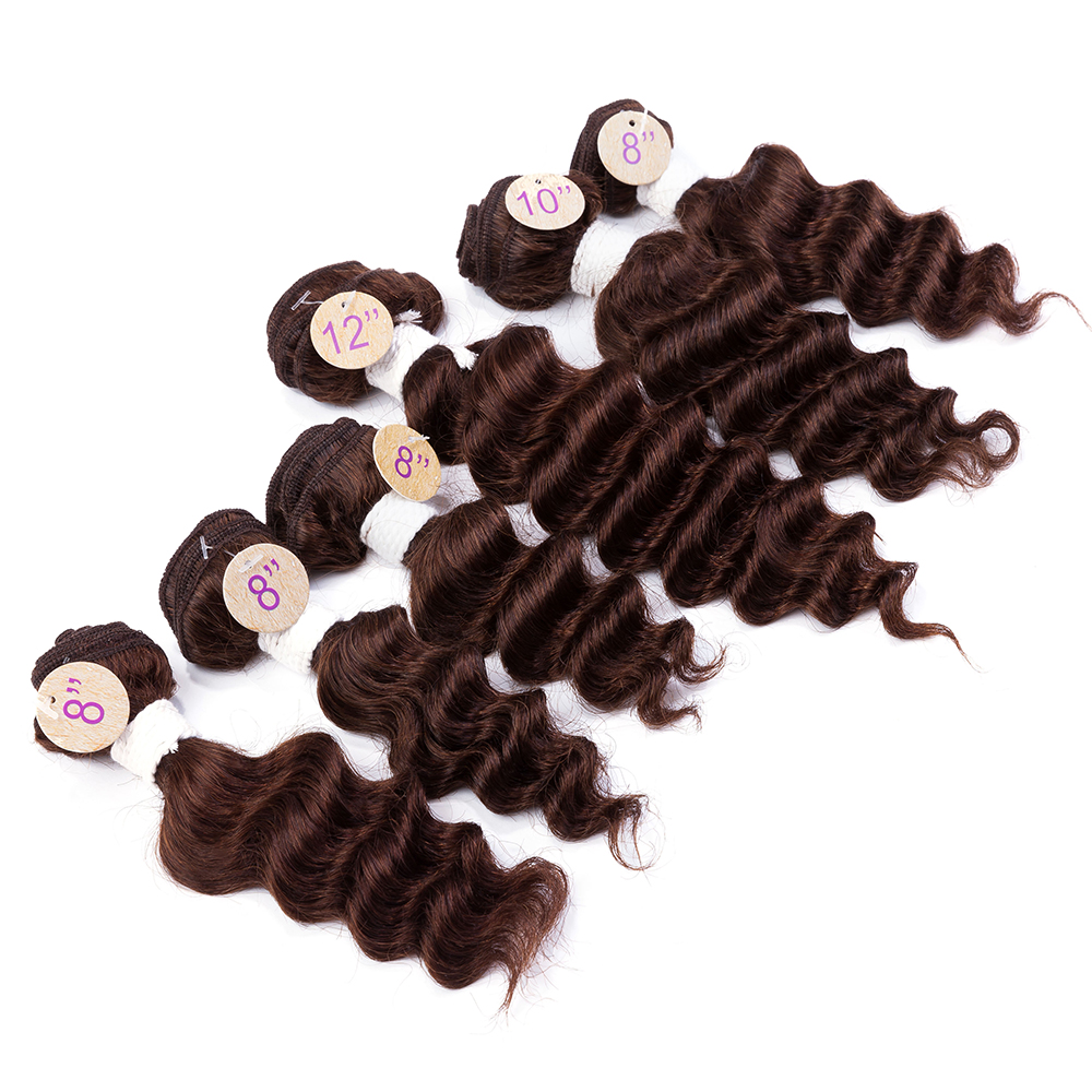 EVET Brazilian Virgin Deep Wave Hair Weft Set 7A Top Grade 200g/Set Brazilian Deep Wave Human Hair Weave Unprocessed Human Hair