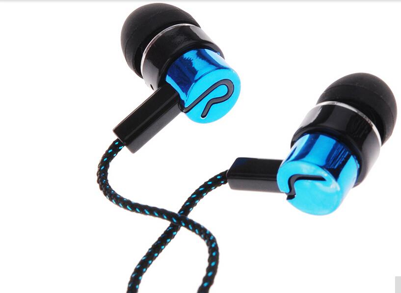 Металлические наушники стандартный шумоизоляции 1.1 м отражающей ткани линию 3.5 мм стерео в-ухо наушники наушники