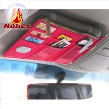 Multifunctional Sun Visor business card holders Storage Bag Car Notes Pouch CD Receive Bag Card Visor Case Holder Clipper Bag(China (Mainland))