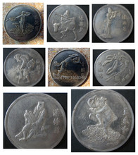 China masterpiece The Eight Immortals Crossing the Sea old silver coin,antique coin,8pcs/lot free shipping(China (Mainland))