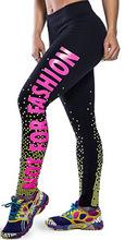 Leggings Letter 3D Digital Print Women Pencil Skinny Pants 2016 New Fashion Plus Size XL XXL XXXL XXXXL