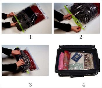 2 pcs/lot 40*60cm Travelling vacuum storage bag Space saving Compression bag /hand rolling vacuum bag(China (Mainland))