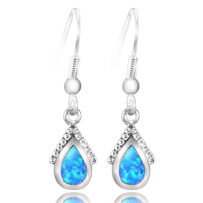 Aliexpress.com : Buy Elegant Blue Opal Earrings For Women ...