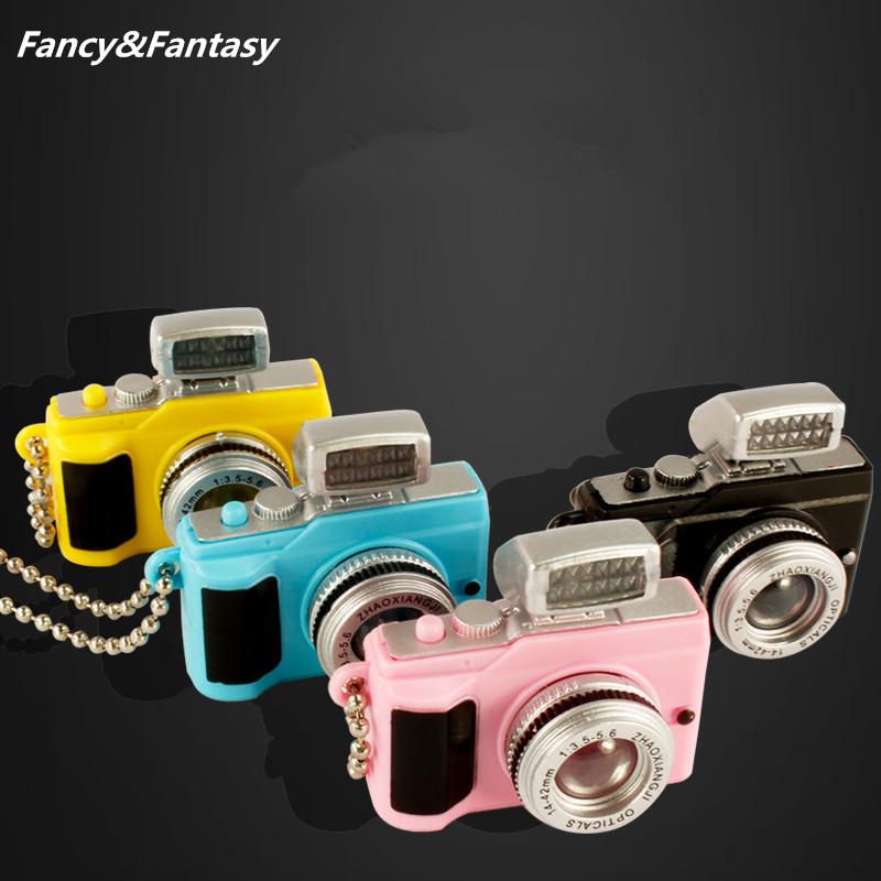 Fancy&Fantasy Camera Led Keychains With sound LED Flashlight Key Chain 4 Color Key Ring Amazing Gift Keychain K-173(China (Mainland))