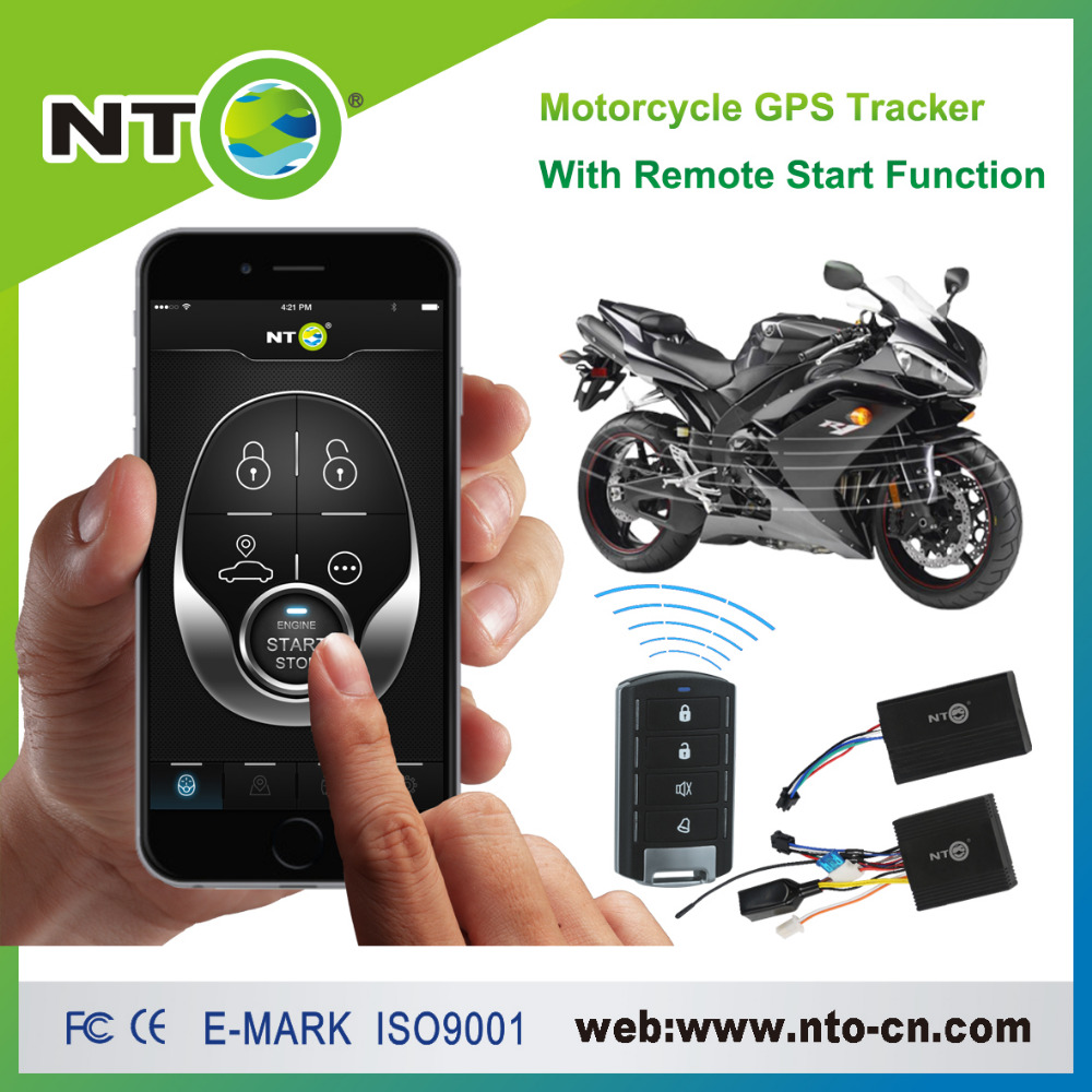 freeshipping 1pcs gps tracker bike moto free app for android and iphone with remote fuel cut remote engine start google link(China (Mainland))