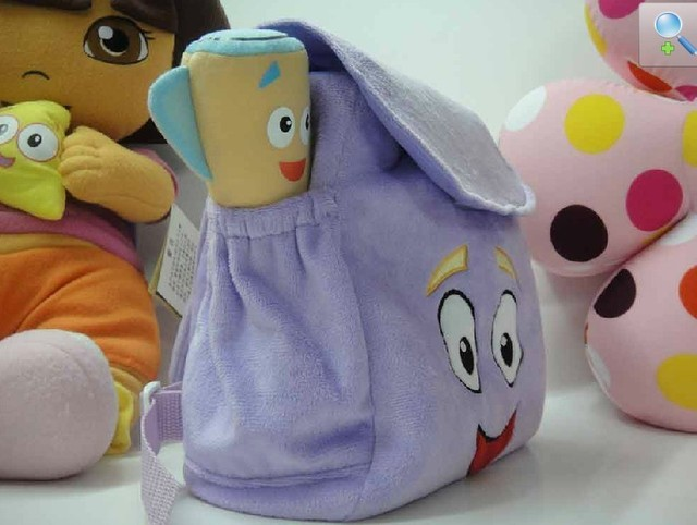 Dora Backpack Plush with Map Girls Preschool The Explorer Rescue Bag