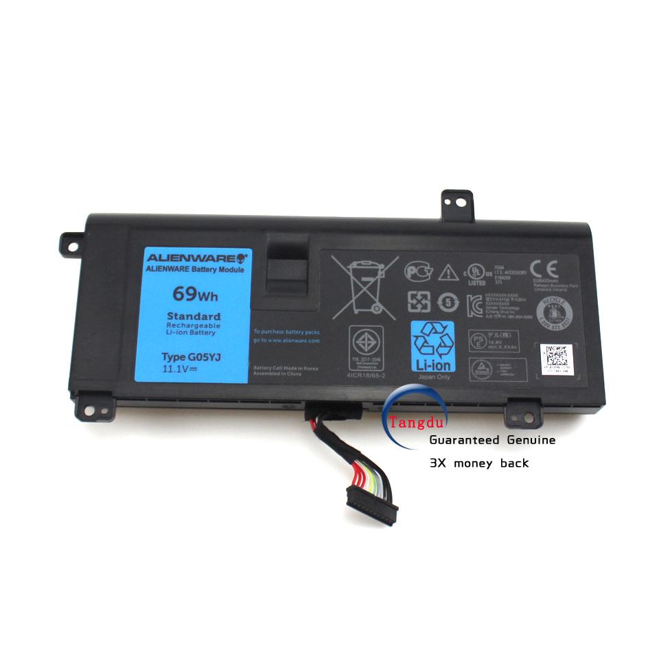 Genuine original New Laptop Battery for Original Dell Alienware M14X R3 R4 G05YJ P39G  Batteries 11.1v69WH<br><br>Aliexpress