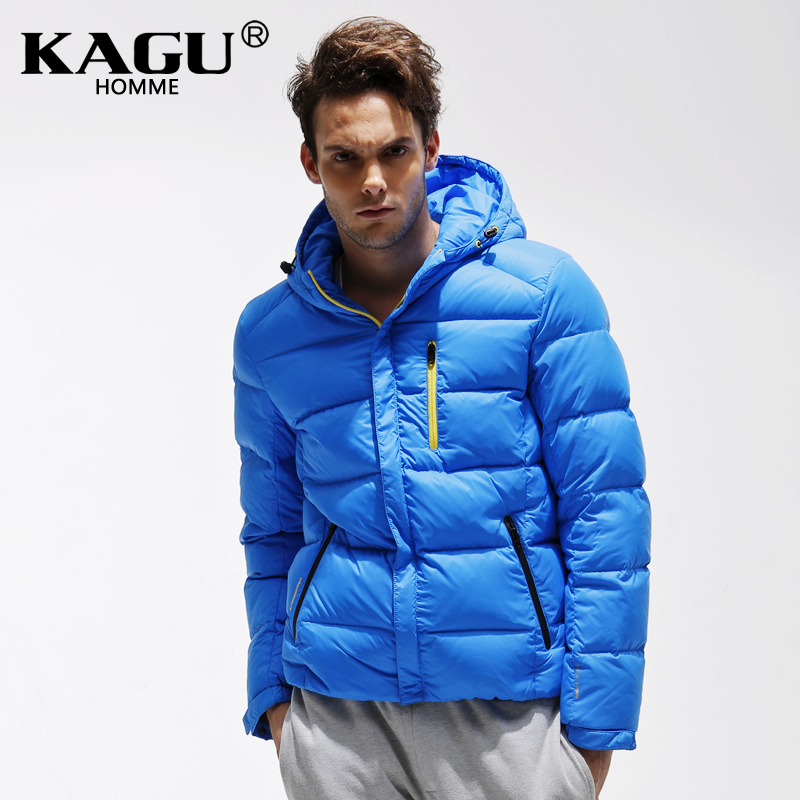 KAGU Brand new 2015 Fashion Mans Thicken White Duck Down Jacket Coat Hood Parka European Size Free Shipping 3411018Одежда и ак�е��уары<br><br><br>Aliexpress